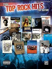 """2008-TOP ROCK HITS FOR GUITAR"" AUTHENTIC GUITAR-TAB MUSIC BOOK-NEW ON SALE!!"