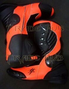"""Ships the same day"" Suzuki Hayabusa Motorcycle Racing LEATHER Boot Size US 14"