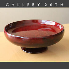 GORGEOUS! HANDCRAFTED MID CENTURY CA REDWOOD BOWL! 1950'S CATCHALL COMPOTE RETRO
