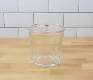 Vintage Style Working Glass 10-Panel Tumbler Luminarc France Marked 500