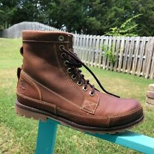 TIMBERLAND EARTHKEEPERS BROWN LEATHER MENS ANKLE BOOTS, SIZE 11W