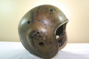 Vtg MacGregor Suspension Game Worn Used Football Helmet Redskins Style   3