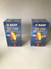 6x BASF EQ 240 VHS Videokassetten neu Original verpackt