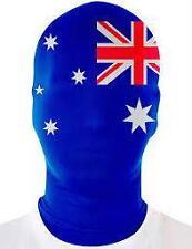 AUSTRALIA DAY Aussie Flag Zentai Second Skin Morph Face Mask Hood Bogan Pride