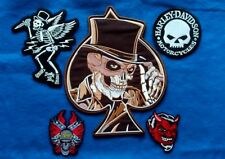 Biker Patches Lot of 5 Skull & Devil Patches