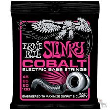 Ernie Ball 2734 Cobalt Super Slinky Electric Bass Strings 45-65-80-100