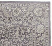 Floral Grey Oriental Oushak 8'x10' Floral Hand-Tufted 100% Wool Area Rug Carpet.