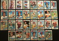 1980 Topps HOUSTON ASTROS Complete TEAM Set CESAR CEDENO Andujar J R RICHARD