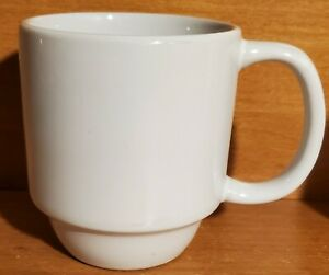 """Mainstays STACKABLES WHITE Mug, 4 1/4"""", Stoneware, Excellent"""