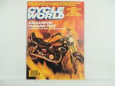 Vintage Jan 1985 CYCLE WORLD Magazine Kawasaki Vulcan Suzuki GS1150E L4648