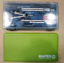 Lot of 2 Precision Drafting/Drawing Set Geometry Maped France, Helix Italy mAAF