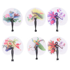 New Paper Hand Fan Folding Wedding Party Favor Decoration Colorful BLCA