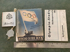 1936 Olympics Guide Book Berlin Germany with Fold Out Map