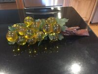 Vintage Mid Century Modern Lucite Acrylic Grapes Yellow Large