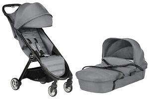 Baby Jogger City Tour 2 Stroller w Bassinet Kit Pram Travel System Slate NEW
