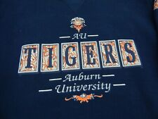 New listing Vtg Auburn Tigers AU University War Eagle Navy Pull Over Sweater XL Paisley