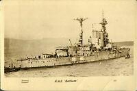 HMS Barham RPPC postcard real photograph Royal Navy military antique