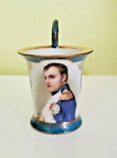 "Sevres style 1890s Blue-ground Napoleon Bonaparte Portrait Cup  ""N"" Crown Mark"