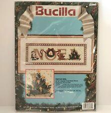 Bucilla Counted Cross Stitch Kit Festive Noel Christmas 82600 Sealed