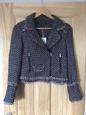 Zara Short Tweed Biker Jacket XS