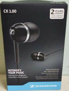 Sennheiser CX 1.00 In-Ear Noise Blocking ear canal phones buds *Black* Brand New