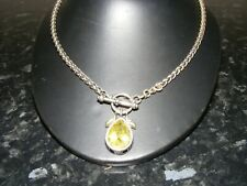 Gothic Style necklace with pale green teardrop stone pendant
