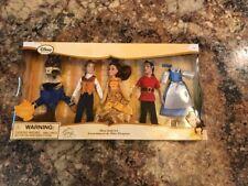 NIB Disney Store Beauty and the Beast Mini Belle, Prince/Beast, Gaston Doll Set