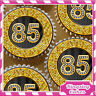 24 x GOLD DIAMOND 85TH BIRTHDAY EDIBLE CUPCAKE TOPPERS RICE PAPER KG085-24