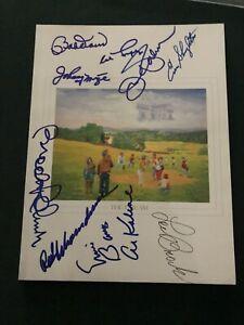 1993 Baseball Hall Of Fame Program Signed Lou Brock Al Kaline Ernie Banks HOF