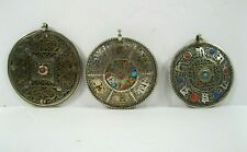 TIBET MANDALA chant Filigree yoga pendant NECKLACE NEPAL Dorje silver brass Lot