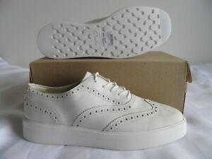 Women's Clarks Hero Brogue Platform Sneaker White Leather Size 9.5M