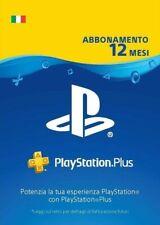 Abbonamento PLAYSTATION PLUS 12 Mesi italia no cd no key full game leggi descriz