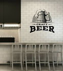 Vinyl Wall Decal Mug of Beer Craft Pub Bar Brewery Brewhouse Stickers (ig6038)