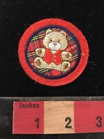 Teddy Bear Cute Red Bow Stuffed Animal Kids Embroidered Iron On 55033 Patch