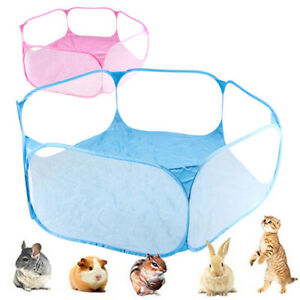 2021 HOME Pet fence portable fashion open indoor/outdoor small animal cage