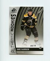 17/18 SP GAME-USED SPGU ROOKIE RC #170 JAKE DEBRUSK 06/74 BRUINS