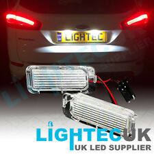 2x 18 SMD FORD MONDEO CMAX FOCUS FIESTA LED WHITE NUMBER PLATE UNIT LIGHTS UK