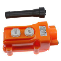 Waterproof Pendant Control Pushbutton Switch for Hoist Crane Up-Down COB-61 Fast