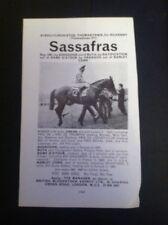 L2-4 Ephemera 1970 Horse Racing Advert Ballylinch Stud Sassafras