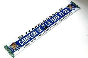 scarf real sociedad bufanda futbol sciarpa huivi halsduk copa del Rey campeon