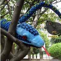 63'' Simulation Stuffed Plush Toys-Boa Snake Plush Stuffed Animals Toy Kids Gift