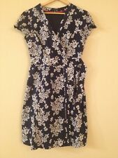 Tommy Hilfiger Womens Navy Blue White Floral Wrap Dress Size Small S/P