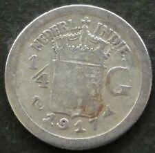 Netherlands East Indies ¼ gulden 1917 KM#312 silver