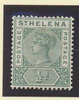 St. Helena Stamp Scott #40, Mint Hinged, Hinge Remnant