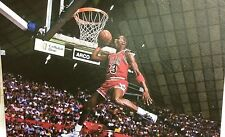 "NBA Chicago Bulls MICHAEL JORDAN (Dunk) 16"" x 24"" Framed Canvas Print"