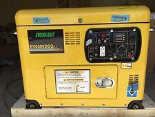"New listing New Portable Super Quiet Diesel Generator ""Open Top"" 6.5Kw Remote Start"