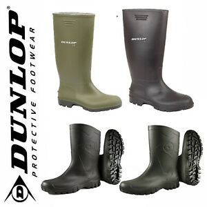 Mens Ladies Dunlop Rubber Original Waterproof Wellies Festival Wellington Boots