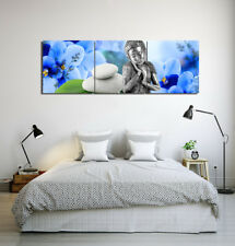 "Orchid Stone Sleep Buddha Spa-Home Decor Modern Art Prints On Canvas 16x16""x3pc"