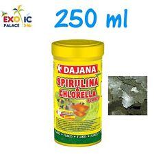 DAJANA SPIRULINA CHLORELLA 250ml MANGIME IN FIOCCHI PER PESCI DOLCE MARINO CIBO
