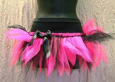 PLUS SIZE NEON PINK BLACK LUXURY TUTU SKIRT 80'S FANCY DRESS DANCE XXXL 24 26 28